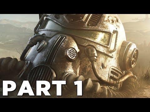 FALLOUT 76 Walkthrough Gameplay Part 1 - INTRO (PS4 PRO)