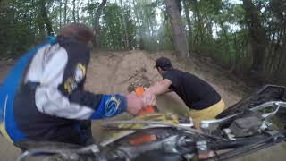 """Highlights: 3rd place in the prologue after a hard crash. """"Enduro 4 SEASONS Rally: 3 stage"""""""