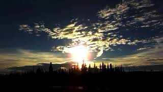 Flat Earth: Midnight Sun Timelapse in Alaska 2018