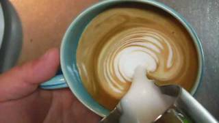 How to froth milk for latte art without steam