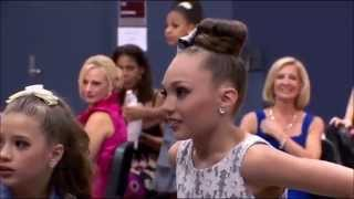 During Nationals Maddie's responding to Candy apples playing the Chandelier song
