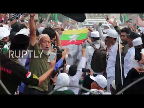 Indonesia: Myanmar Flag Burned As Jakarta Protesters Decry Persecution Of Rohingya Muslims