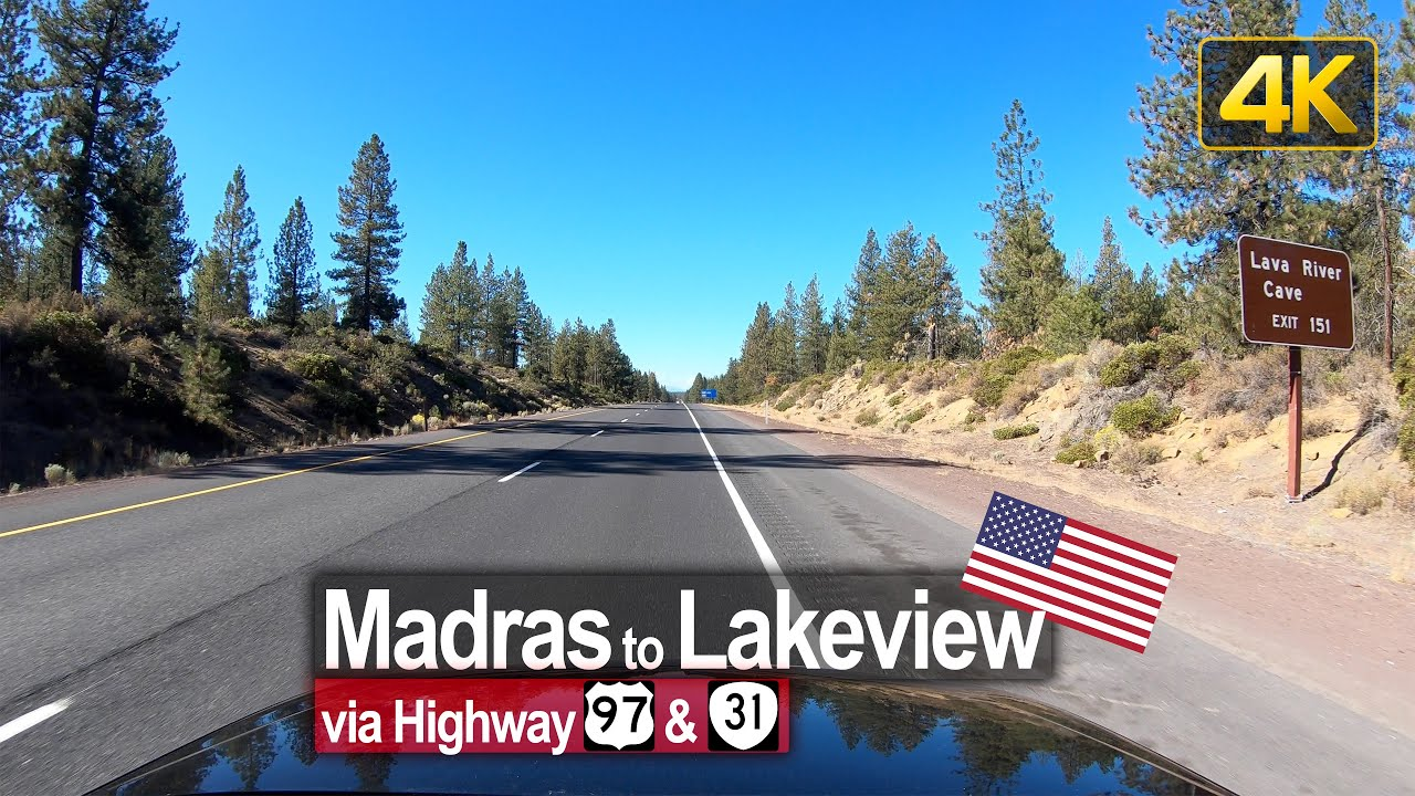 USA Road Trip – Madras OR to Lakeview OR in 4K