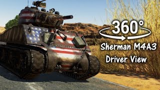 360°| Sherman Tank Driver View Experience -  War Thunder [SFM] (VR Compatible)