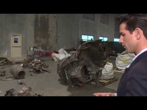 Tour of the wreckage from Boeing 767 that crashed in Trinity Bay