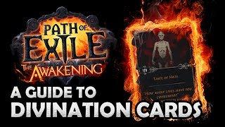 Path of Exile Awakening: What Are DIVINATION CARDS? - How Divination Cards Work & Where they Drop