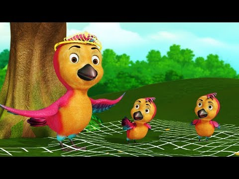 The Clever Birds Story | Bengali Cartoon Stories for Kids | Infobells