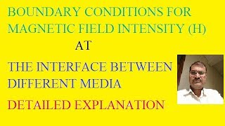 BOUNDARY CONDITIONS FOR MAGNETIC FIELD INTENSITY (H) AT THE INTERFACE BETWEEN DIFFERENT MEDIA