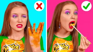 COOL FOOD HACKS FOR REAL FOODIES! || Yummy Kitchen Hacks By 123 Go! Gold
