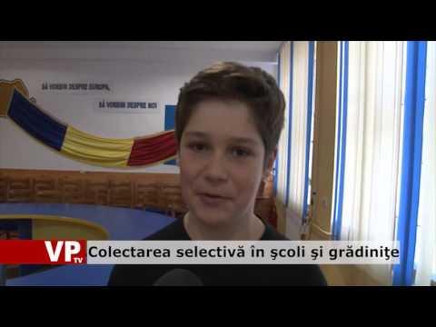 Colectarea selectivă în şcoli şi grădiniţe
