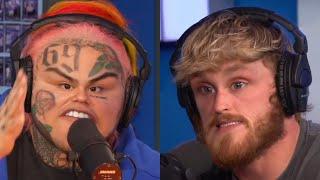 6ix9ine Thinks Logan Paul's Tattoo Sucks