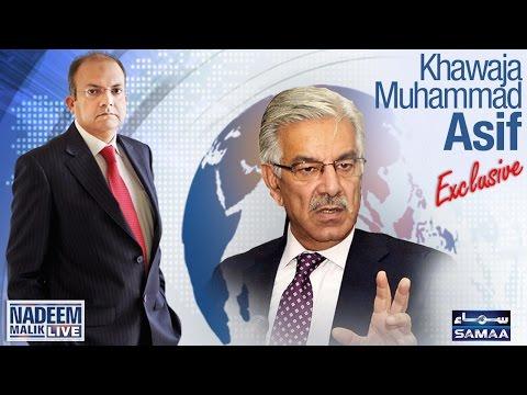 Khawaja Asif Exclusive | Nadeem Malik Live | SAMAA TV |04 April 2017