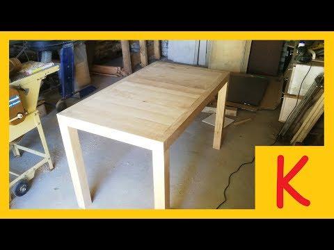 Ein Esstisch selber bauen // Eiche // 1/4 Tischgestell // Killenana