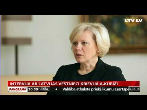 VIDEO: Intervija ar LR vēstnieci Krievijā Astru Kurmi