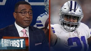 Ezekiel Elliott 'has to reset the market' for all of the RBs- Cris Carter | NFL | FIRST THINGS FIRST