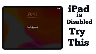 How to Fix My apple iPad  Disabled Without iTunes .