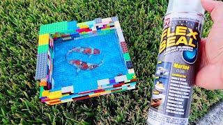 LEGO *FLEX SEAL* FISH Aquarium Pond! DIY
