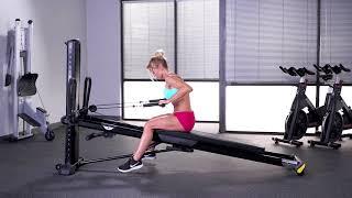 Triceps Kickback (Single Arm, Seated Towards Tower)