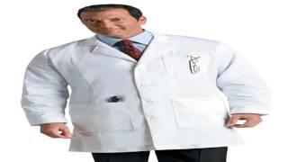Mens Premium Full Length Lab Coat 28 White