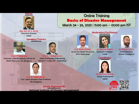 Online Course on 3-day Training on Basics of Disaster Management ...