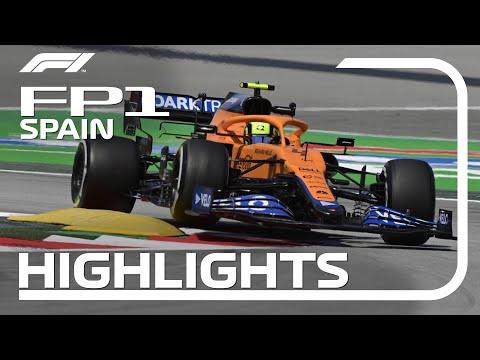 F1第4戦スペインGPフリープラクティス1のハイライト動画
