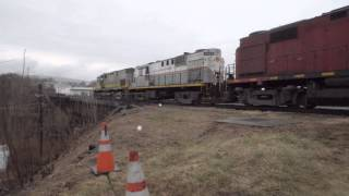preview picture of video '4 Alco Diesel Locomotives In Action - Scranton Pa'