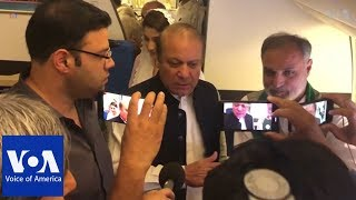 Ex-PM Sharif and Daughter Arrested Upon Return to Pakistan