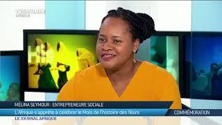 Mélina Seymour, invitée du JT Afrique de TV5 à Paris