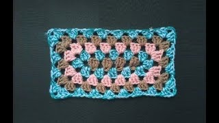 How To Crochet Rectangular Granny Pattern #313│by ThePatternFamily