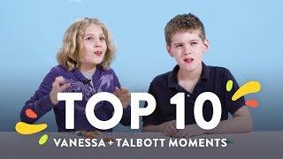 Top 10 Vanessa & Talbott Moments | Top 10 | HiHo Kids