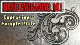 Hand Engraving a Sample Plate- Episode 1 Engraving Basics