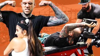 Adam22 and Lena become BODYBUILDERS with Bradley Martyn