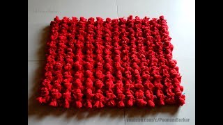 DIY - Door Mat from old T-shirts   Easy Table Mat   Recycling old t-shirts   Step by step tutorial