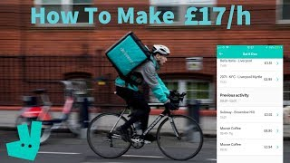 How to make £17/hr with DELIVEROO