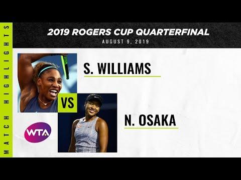 Serena Williams vs. Naomi Osaka | 2019 Rogers Cup Quarterfinal | WTA Highlights