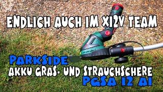 Endlich x12V: Akku Gras- und Strauchschere PGSA 12 A1 PARKSIDE®