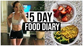 5 DAY FOOD DIARY | What I Ate This Week | Renee Amberg