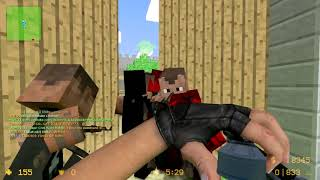 Counter-Strike Source - Minecraft Final - Zombie Escape Mod - ze_minecraft_final_fix + SKINS