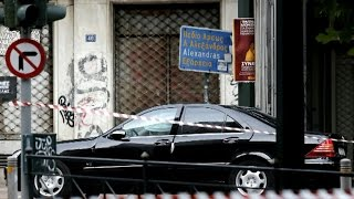 Former Greek prime minister wounded in Athens car bomb