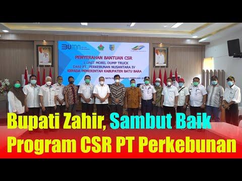 Bupati Zahir, Sambut Baik Program CSR PT Perkebunan Nusantara IV