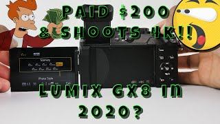Panasonic Lumix GX8 Review in 2020 paid $200 for this body and it shoots 4K!!! #LUMIXGX8 #2020 #GX8