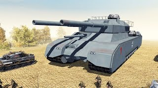 ТАНК RATTE! Немецкое Супероружие В Тылу Врага!