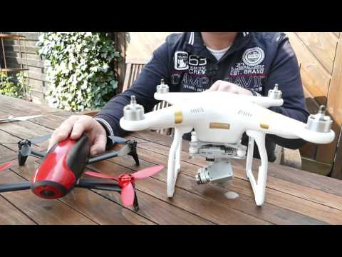 Parrot Bebop Drone 2 vs. DJI Phantom 3 bzw.Phantom 4
