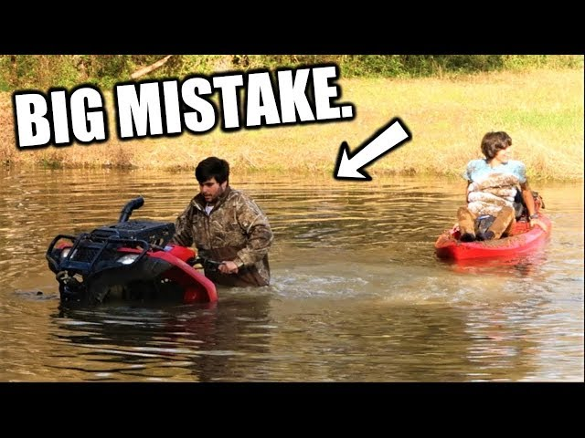 INSANE Kayaking with FOUR WHEELER!
