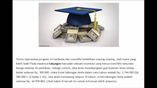 Pilih Tabungan Atau Asuransi Pendidikan