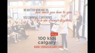 Kids Helping Kids 100 Kids Who Care Calgary
