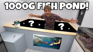My 1000G indoor POND is FINISHED!! (epic)