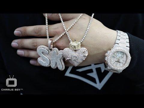 Franky Diamonds Miami Jeweler Shows us How To Price a Diamond Chain & Makes Custom Pendant on Spot.