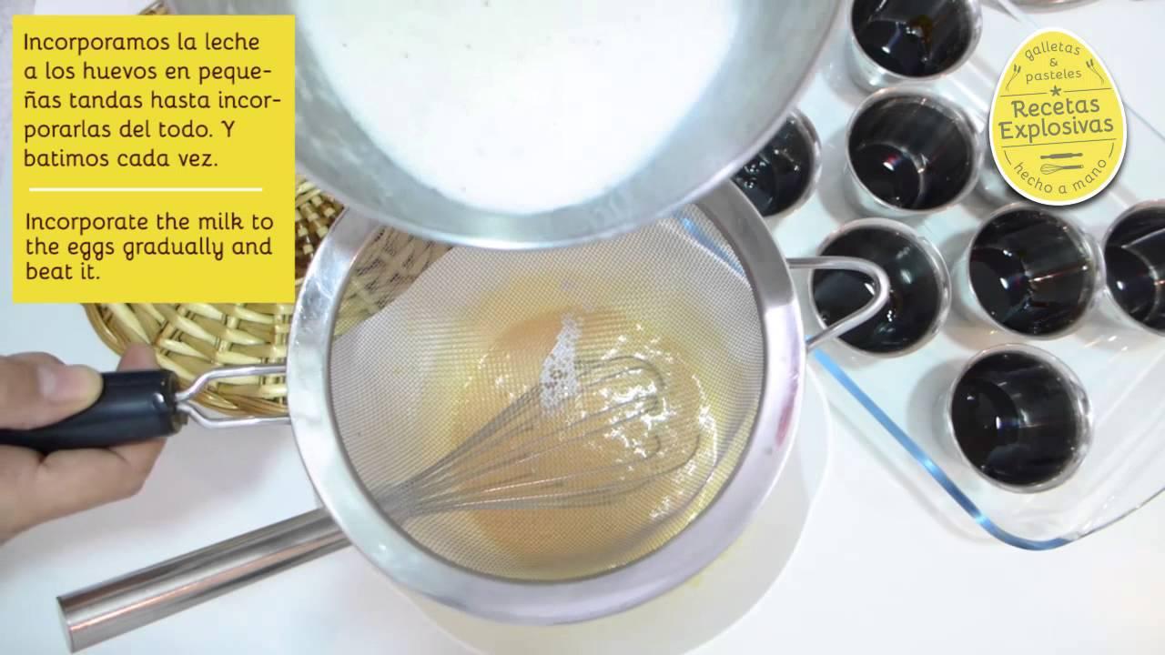 Flan de huevo - Crème caramel - Super fácil! Recetas Explosivas