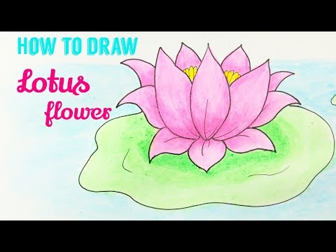 How To Draw Lotus Lotus Flower Easy Step By Step Drawing Tutorial